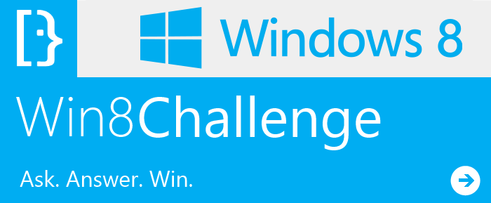 Win8Challenge: Ask, Answer, Win